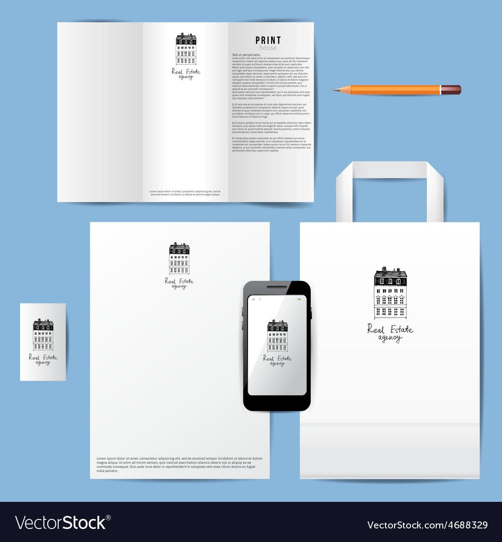 Real estate company branding template vector | Price: 1 Credit (USD $1)