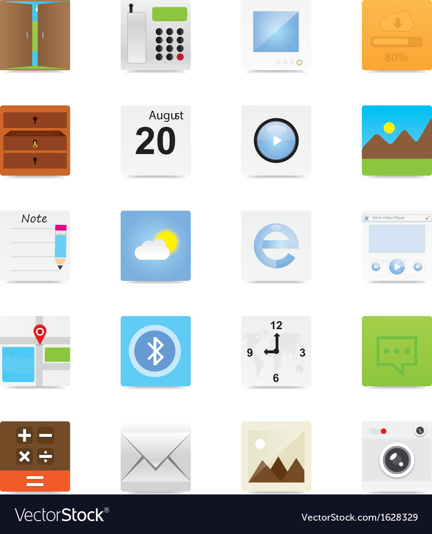Web icons 12 vector | Price: 3 Credit (USD $3)