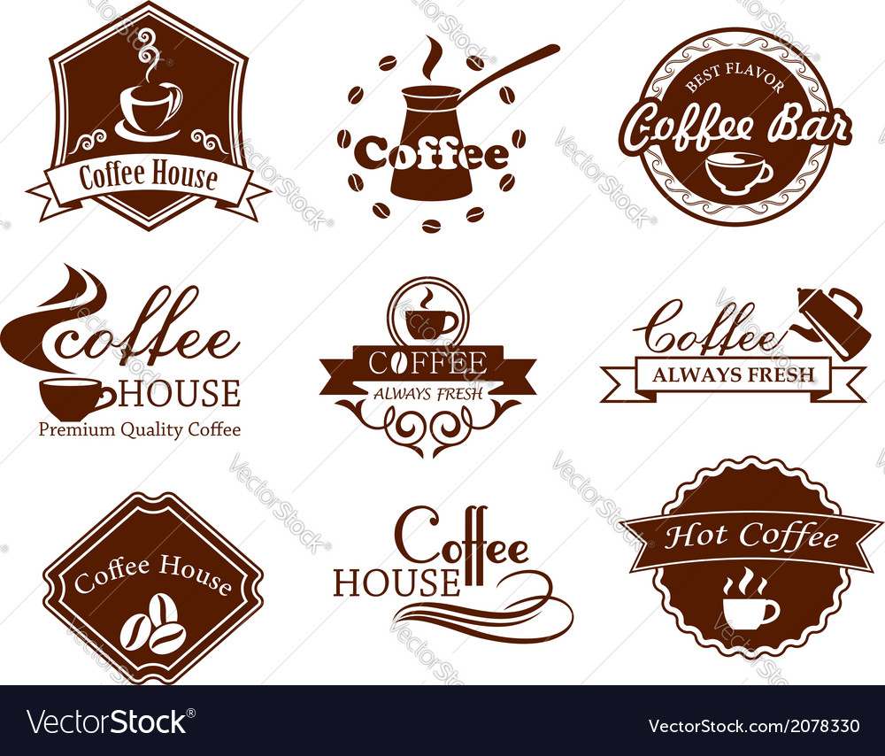 Coffee posters and banners set vector | Price: 1 Credit (USD $1)