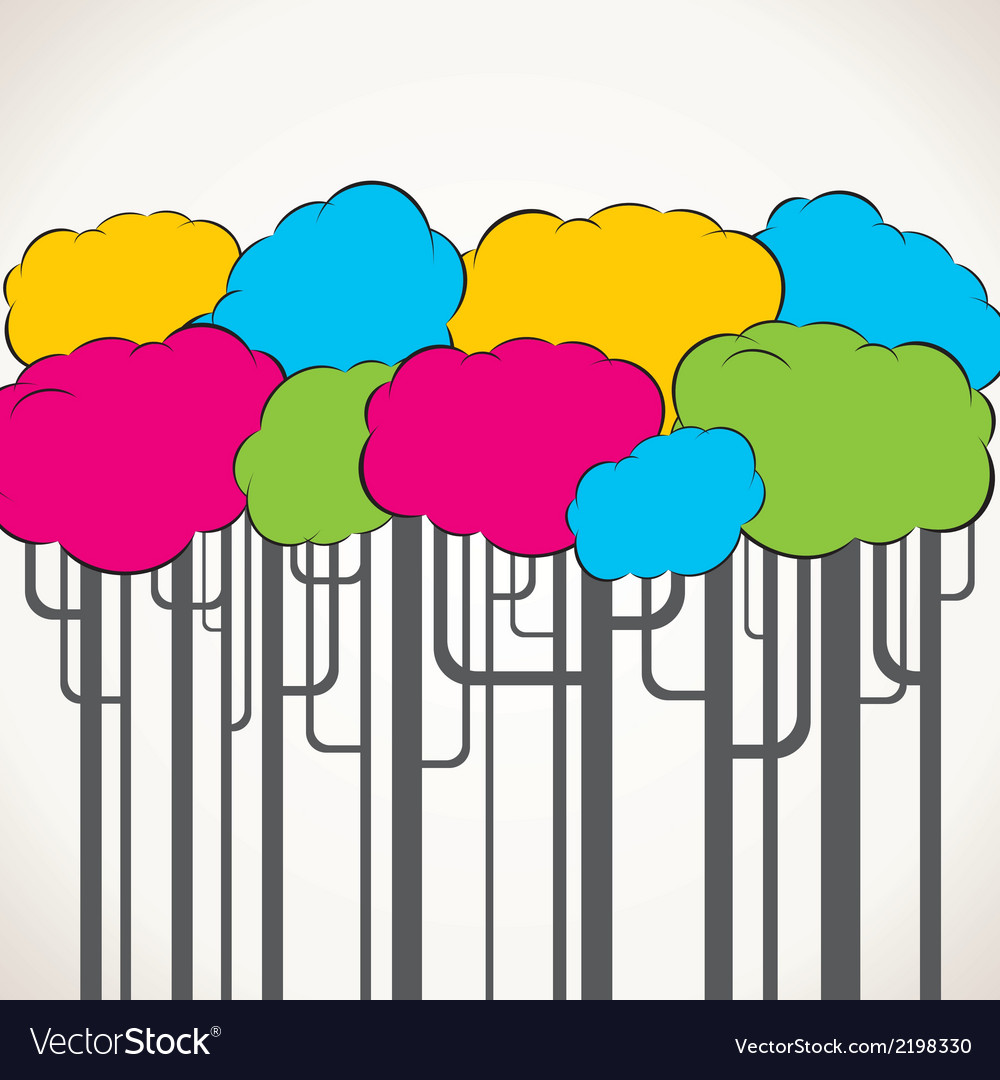 Creative colorful tree background vector | Price: 1 Credit (USD $1)