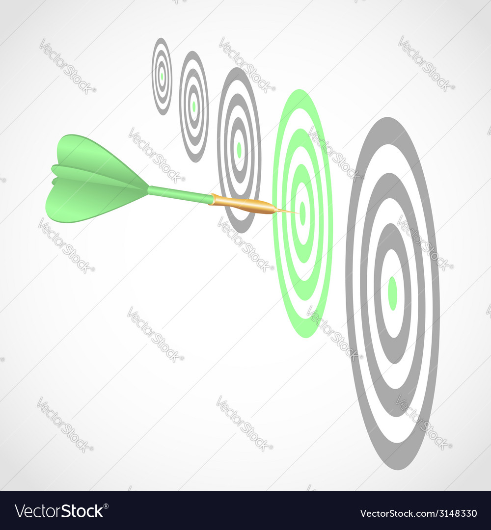 Dart right to target vector | Price: 1 Credit (USD $1)