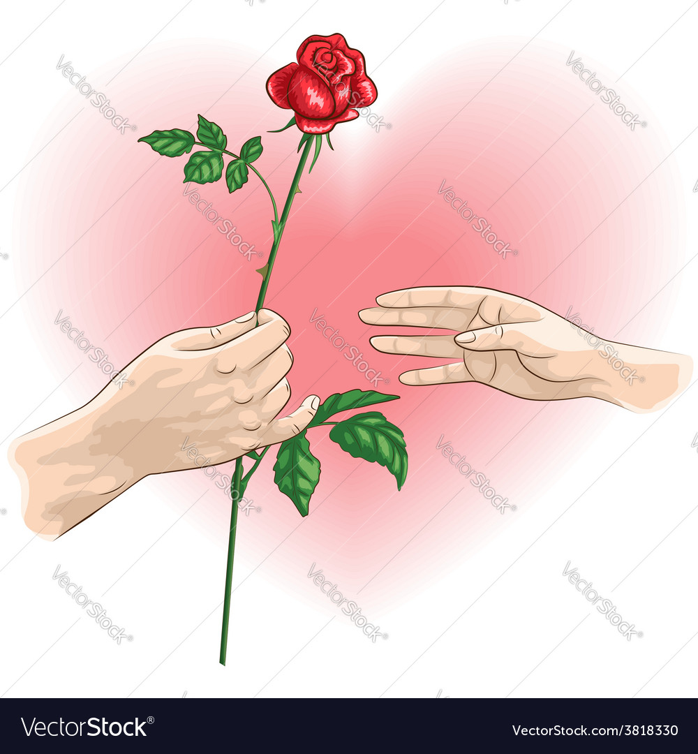 Hands rose vector | Price: 1 Credit (USD $1)