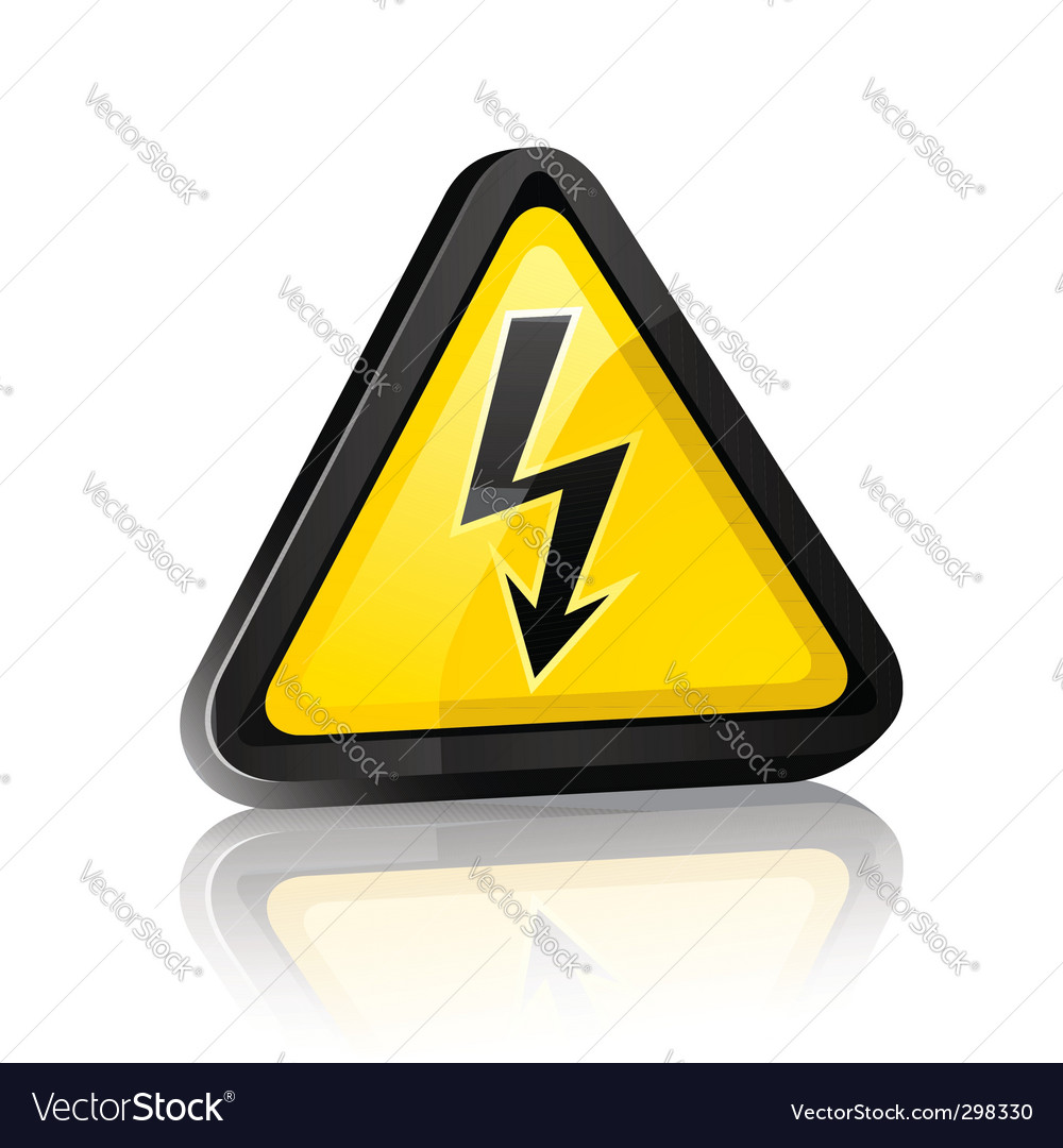 Hazard sign vector | Price: 1 Credit (USD $1)