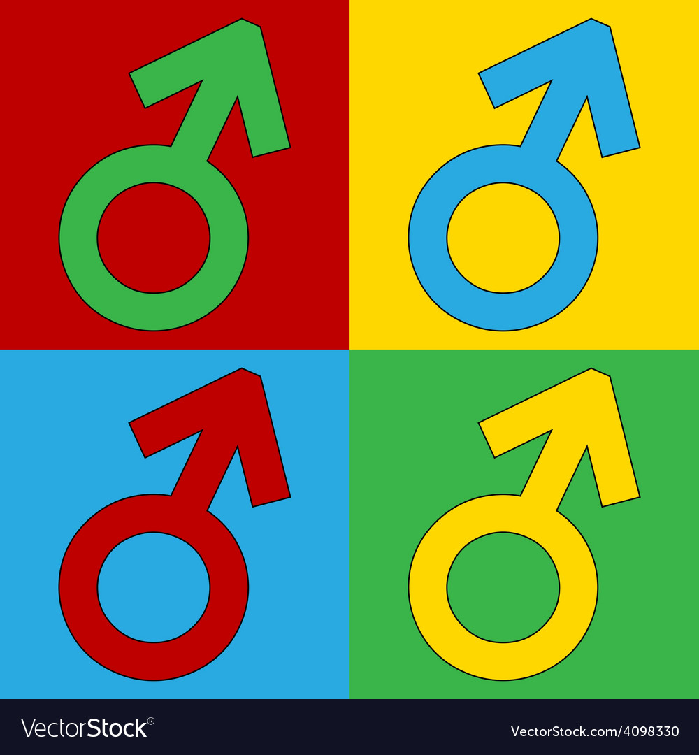 Male icons vector | Price: 1 Credit (USD $1)