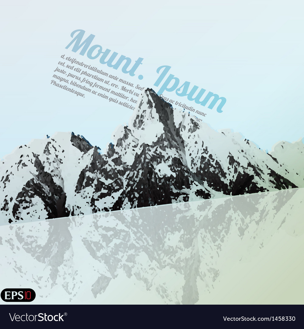 Mountain tour vector | Price: 1 Credit (USD $1)