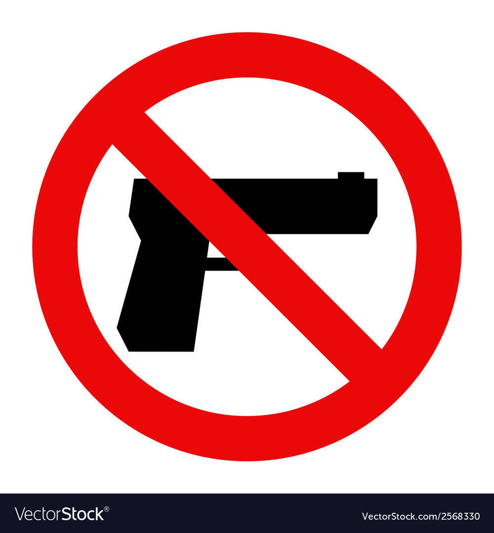 No gun sign vector | Price: 1 Credit (USD $1)