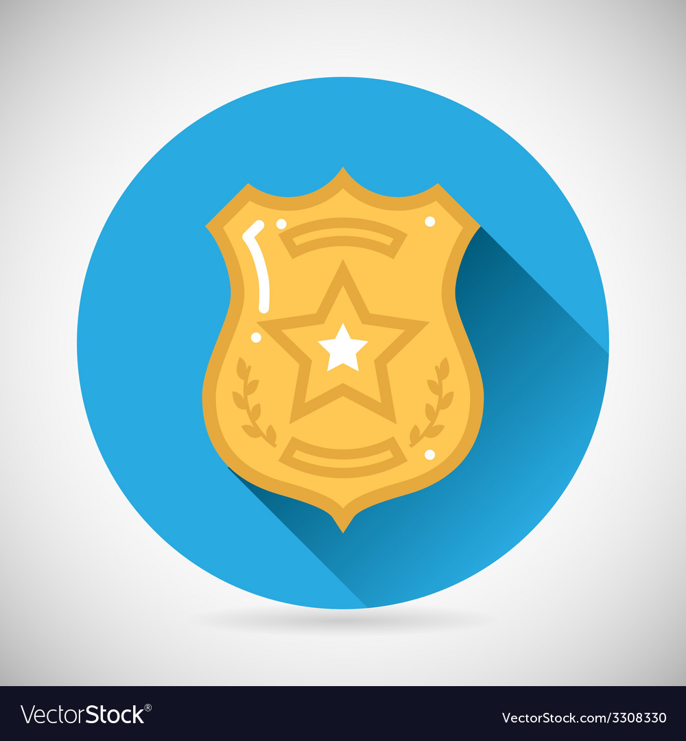 Police officer bage icon protection law order vector | Price: 1 Credit (USD $1)