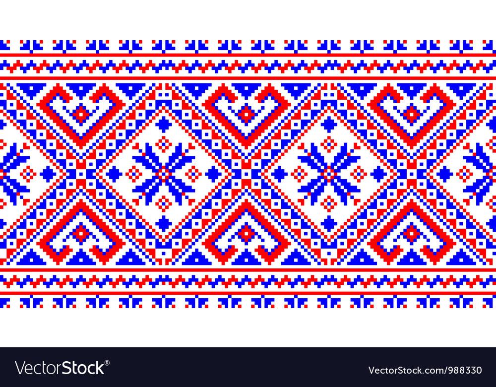Ukrainian pattern ornament vector   Price: 1 Credit (USD $1)