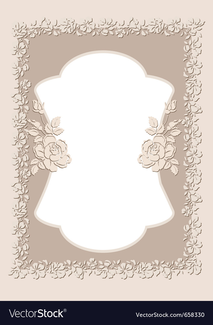 Vintage ornament frame vector | Price: 1 Credit (USD $1)
