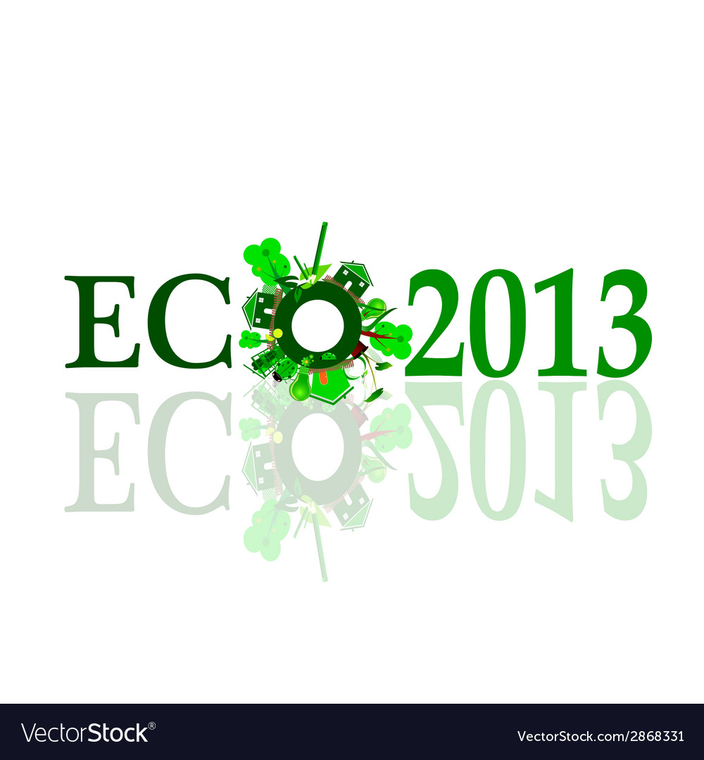 Eco 2013 sign vector | Price: 1 Credit (USD $1)