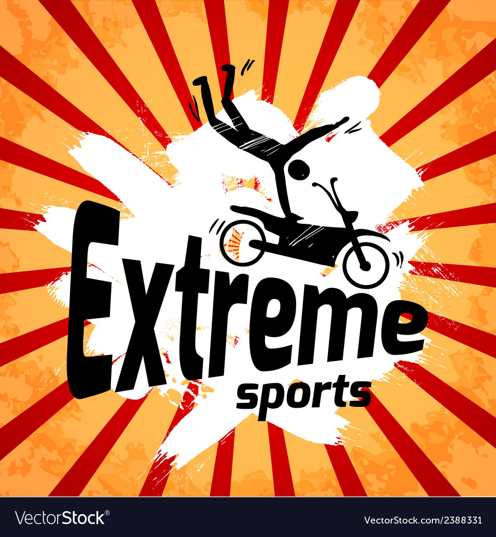 Extreme sports poster vector | Price: 1 Credit (USD $1)