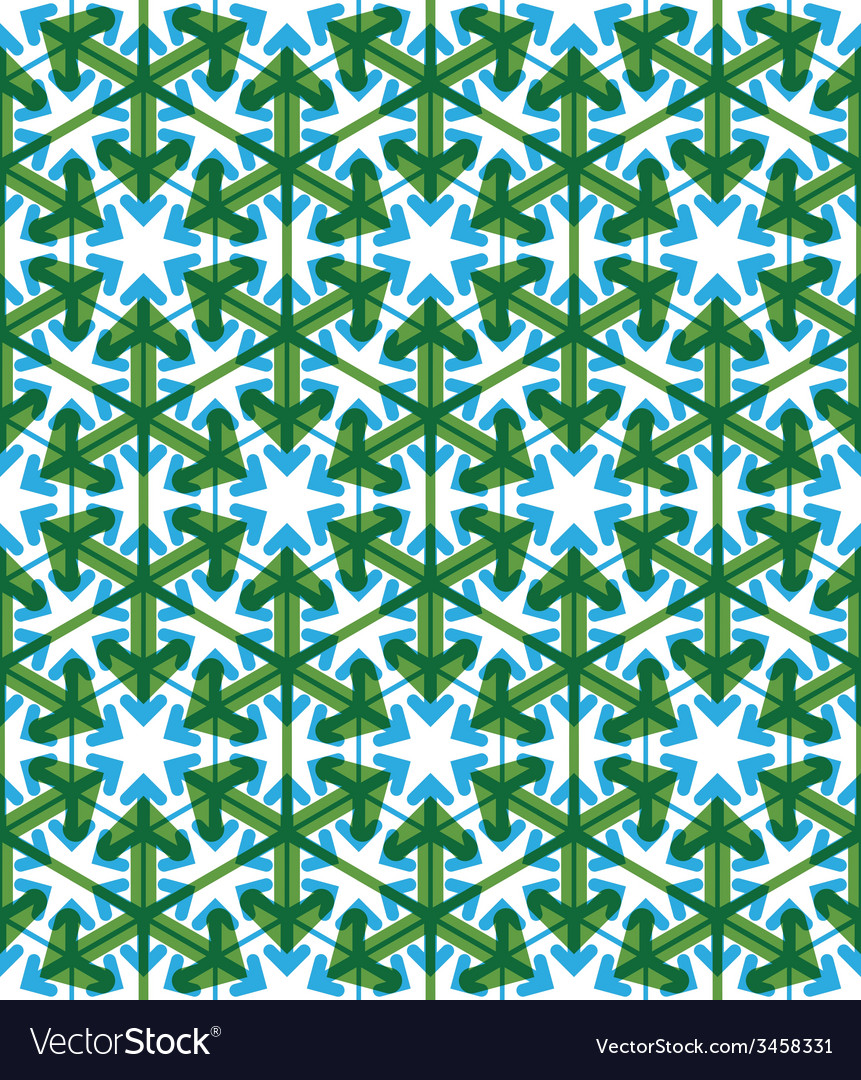 Geometric green abstract seamless pattern with vector | Price: 1 Credit (USD $1)