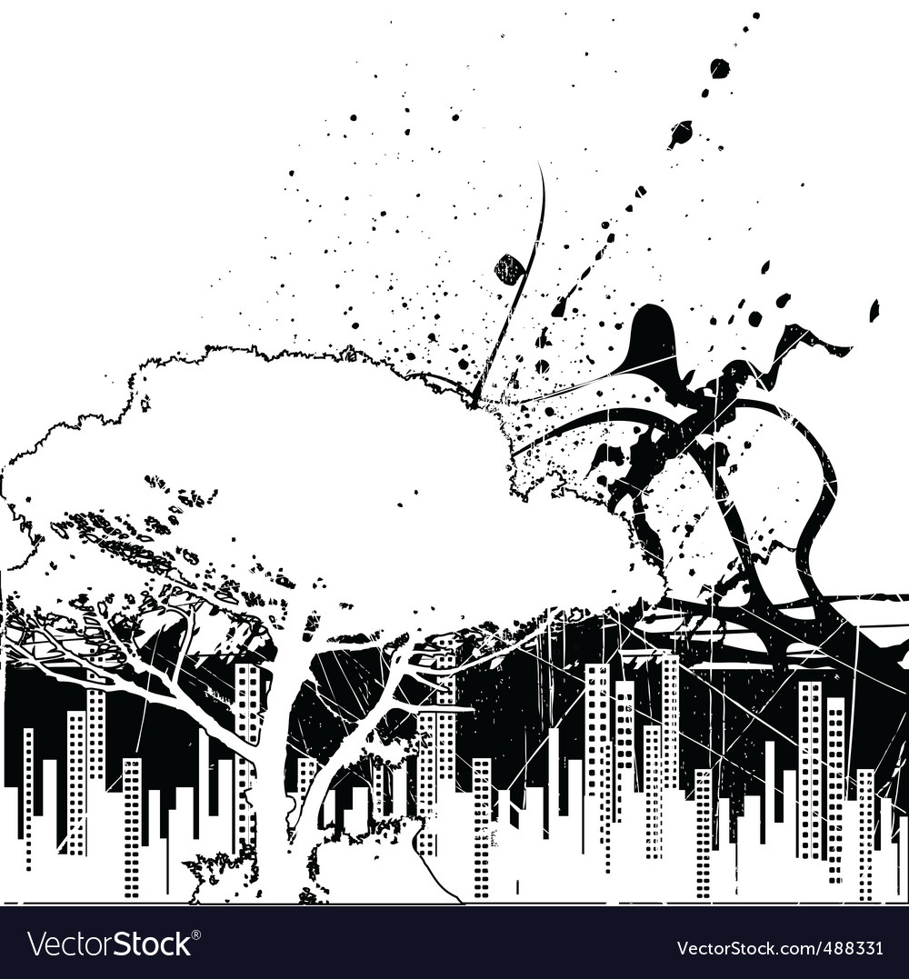 Grunge city and nature vector | Price: 1 Credit (USD $1)