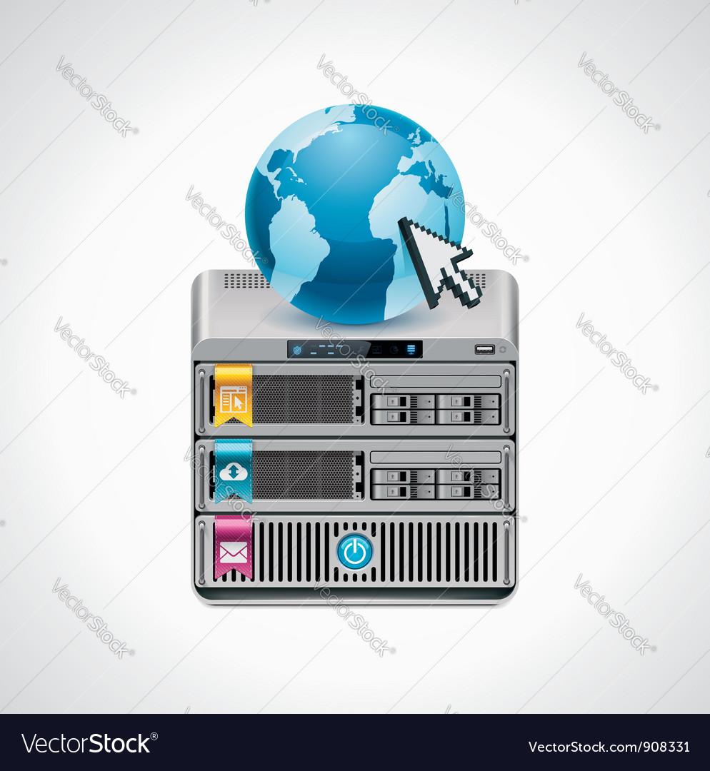 Server icon vector | Price: 3 Credit (USD $3)