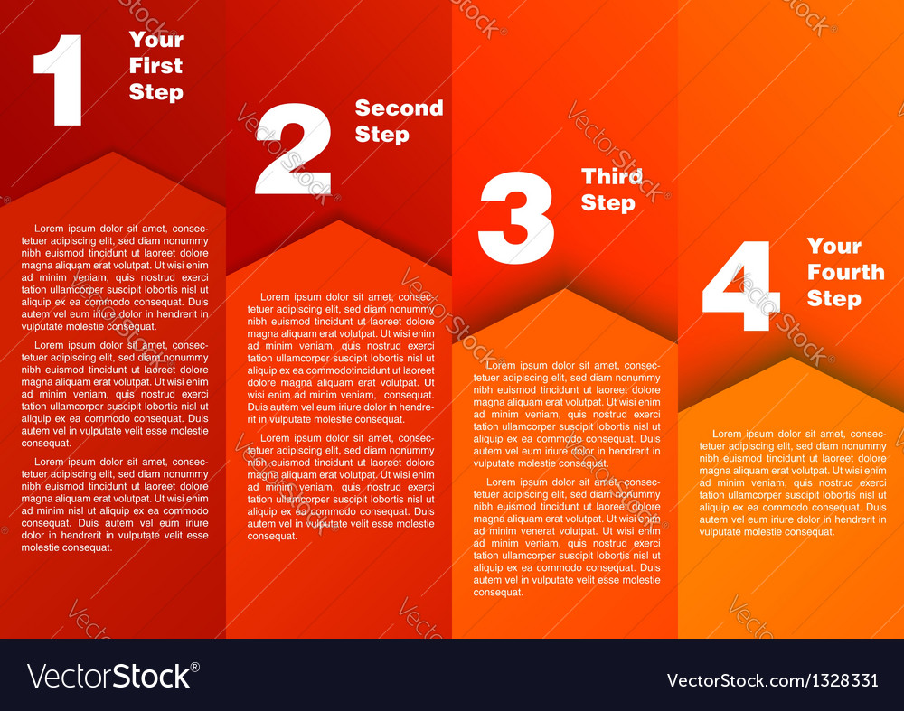 Step by step - progress diagram vector | Price: 1 Credit (USD $1)