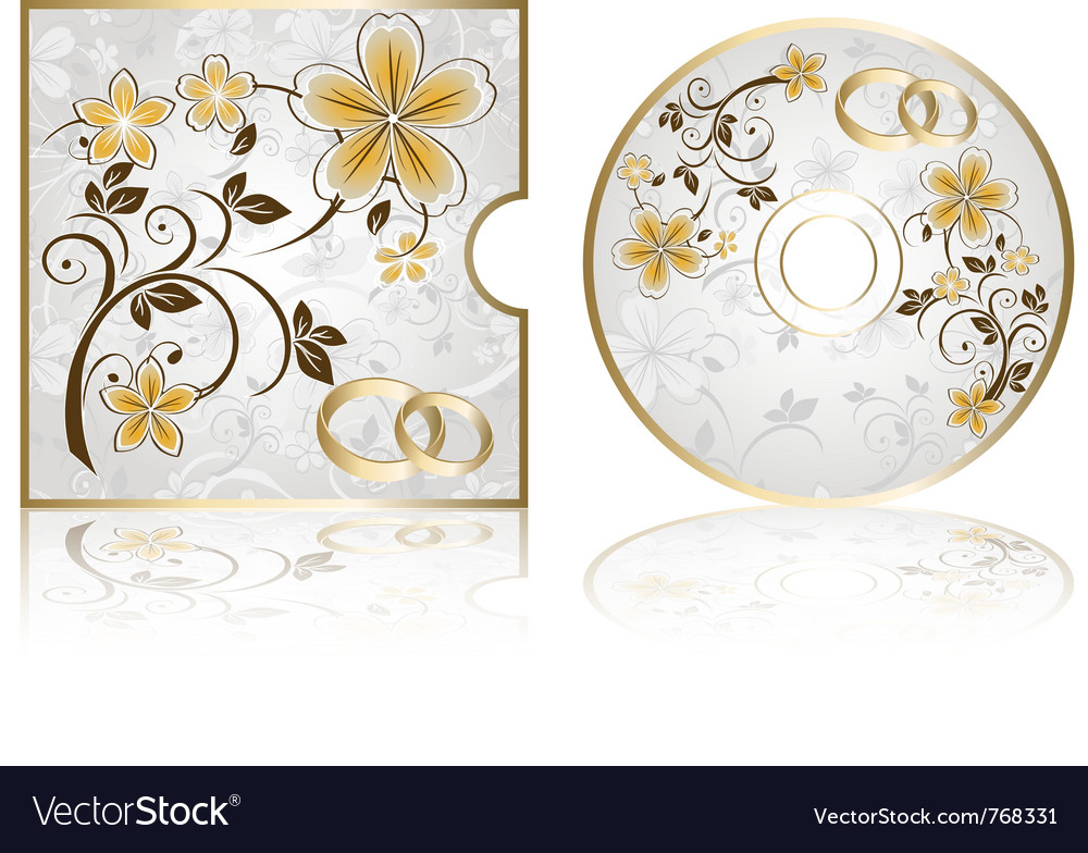 Wedding cd labels vector | Price: 1 Credit (USD $1)