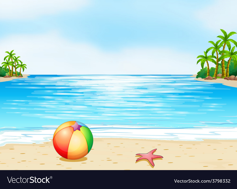 A beach vector | Price: 1 Credit (USD $1)