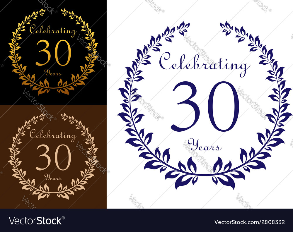 Anniversary celebration emblem vector | Price: 1 Credit (USD $1)