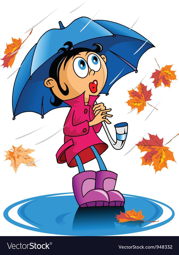 Autumn rain vector   Price: 1 Credit (USD $1)