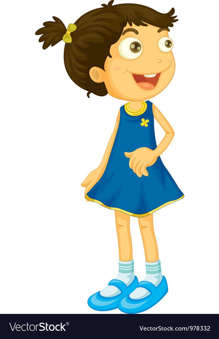 Cartoon girl vector | Price: 3 Credit (USD $3)