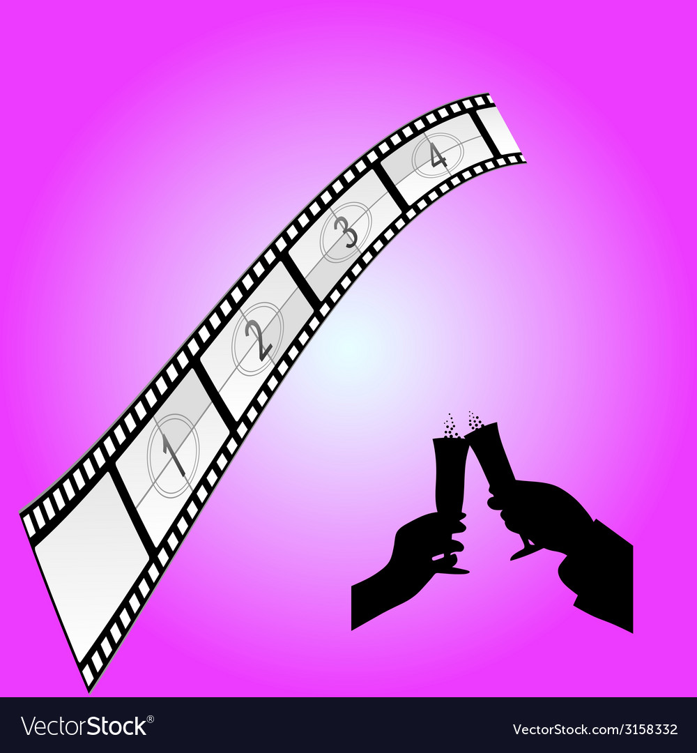 Cinematography sign art color vector | Price: 1 Credit (USD $1)