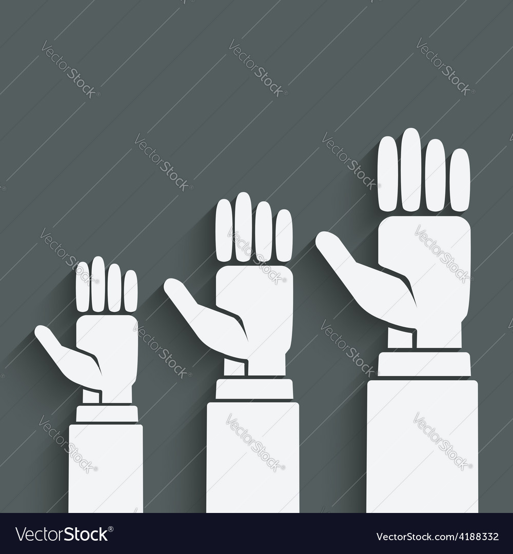 Hands up concept vector | Price: 1 Credit (USD $1)
