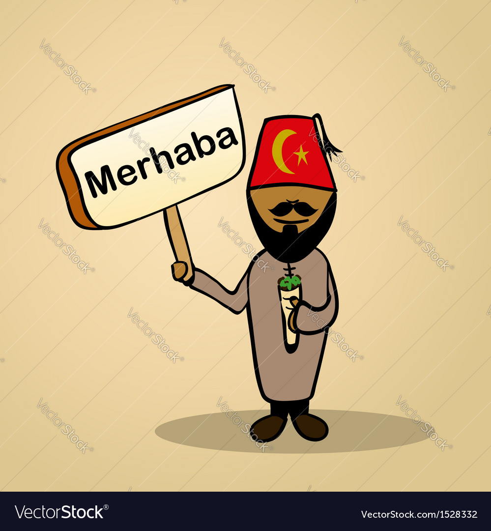 Hello from turkey people vector | Price: 1 Credit (USD $1)