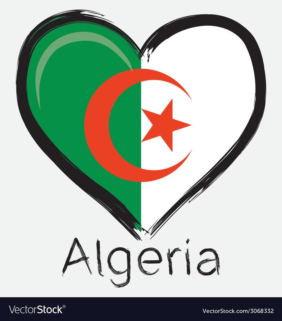 Love algeria flag vector | Price: 1 Credit (USD $1)
