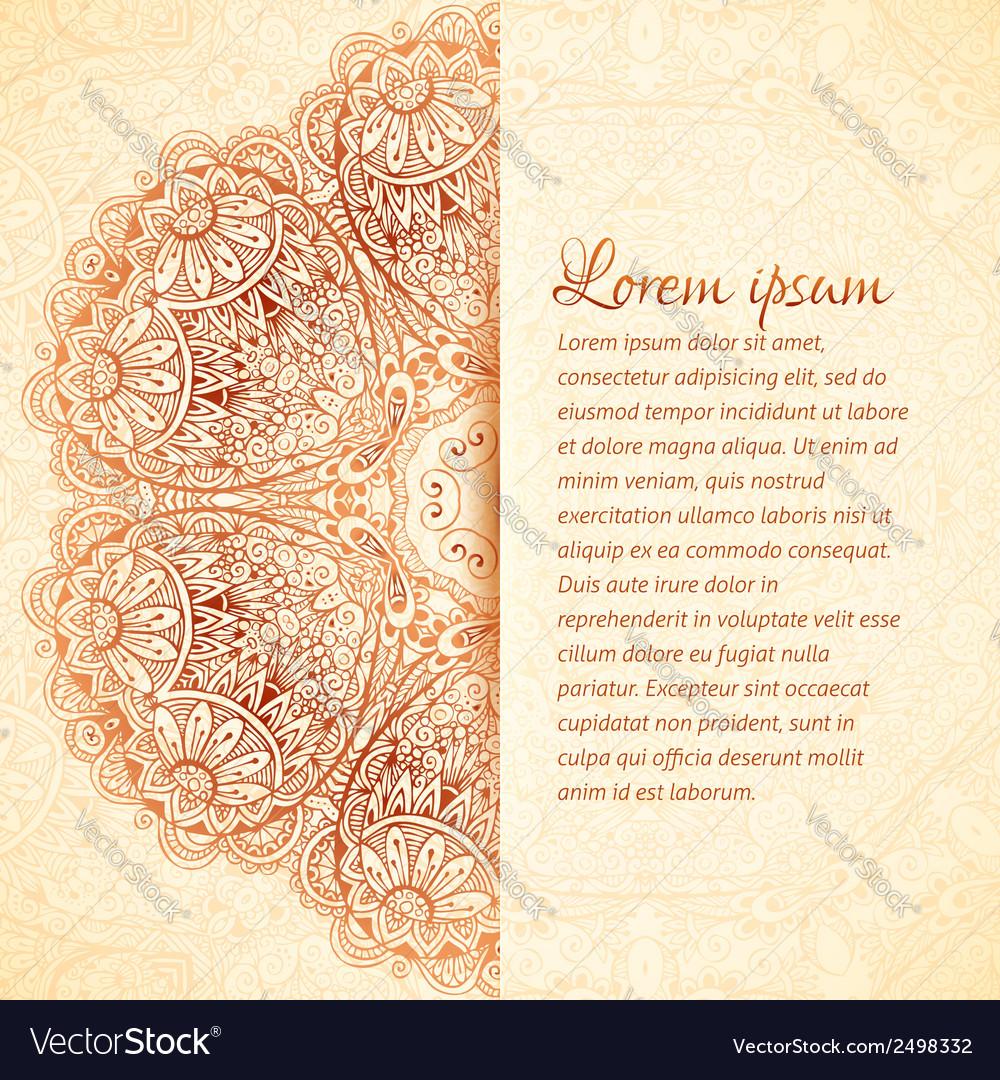 Ornate vintage wedding card template vector | Price: 1 Credit (USD $1)