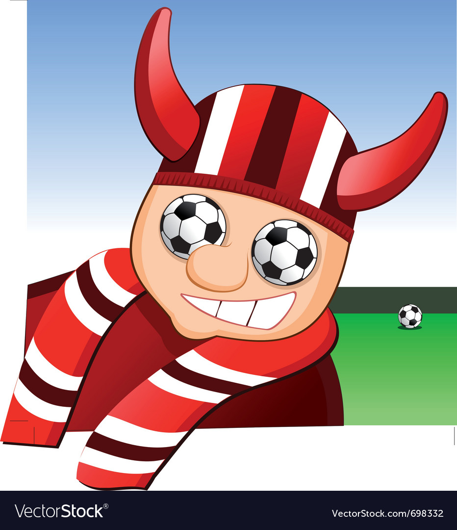 Soccer fan vector | Price: 1 Credit (USD $1)