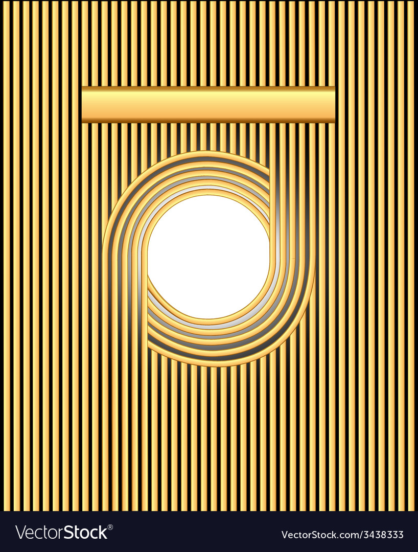 Background frame with gold stripes and circles vector | Price: 1 Credit (USD $1)