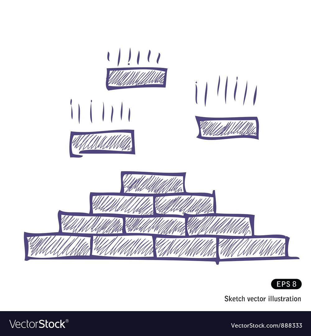 Brick pyramid vector | Price: 1 Credit (USD $1)