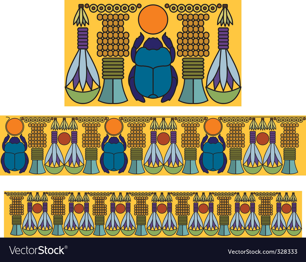 Egyptian antique pattern vector | Price: 1 Credit (USD $1)