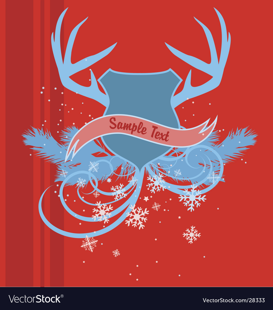 Holiday heraldry vector | Price: 1 Credit (USD $1)