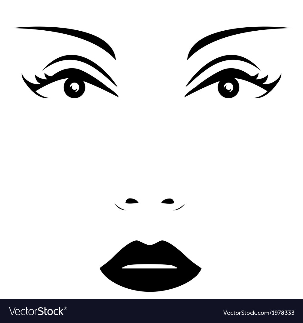 Isolated woman face vector | Price: 1 Credit (USD $1)