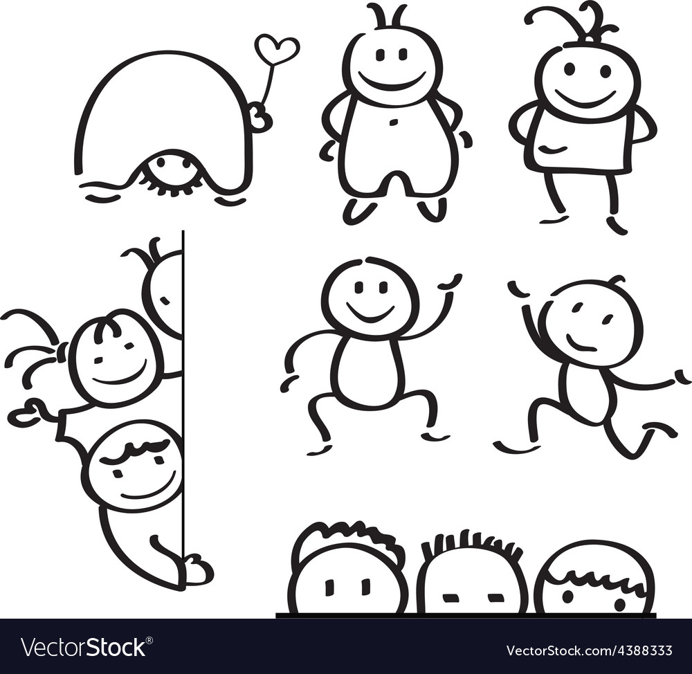 Kids doodle vector | Price: 1 Credit (USD $1)
