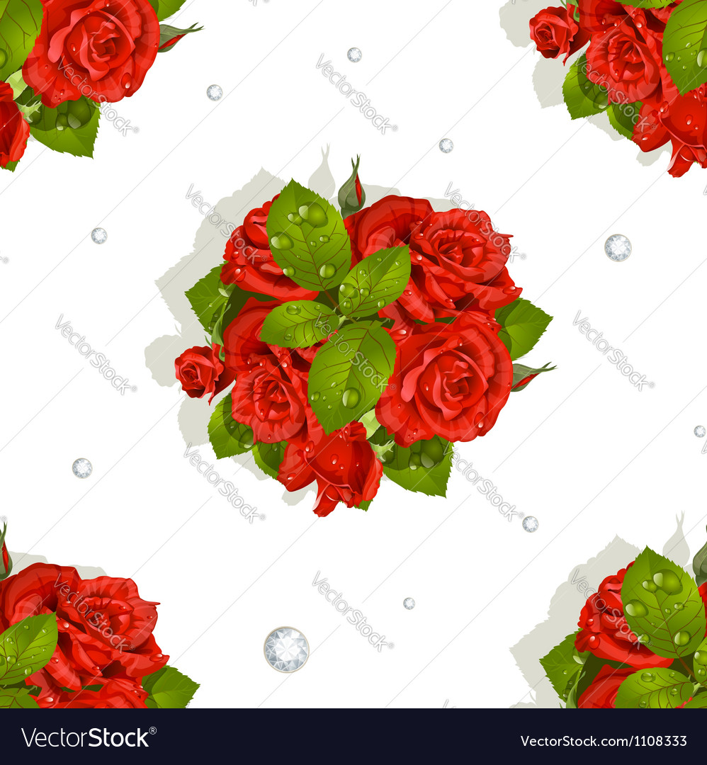 Red roses bouquet vector | Price: 1 Credit (USD $1)