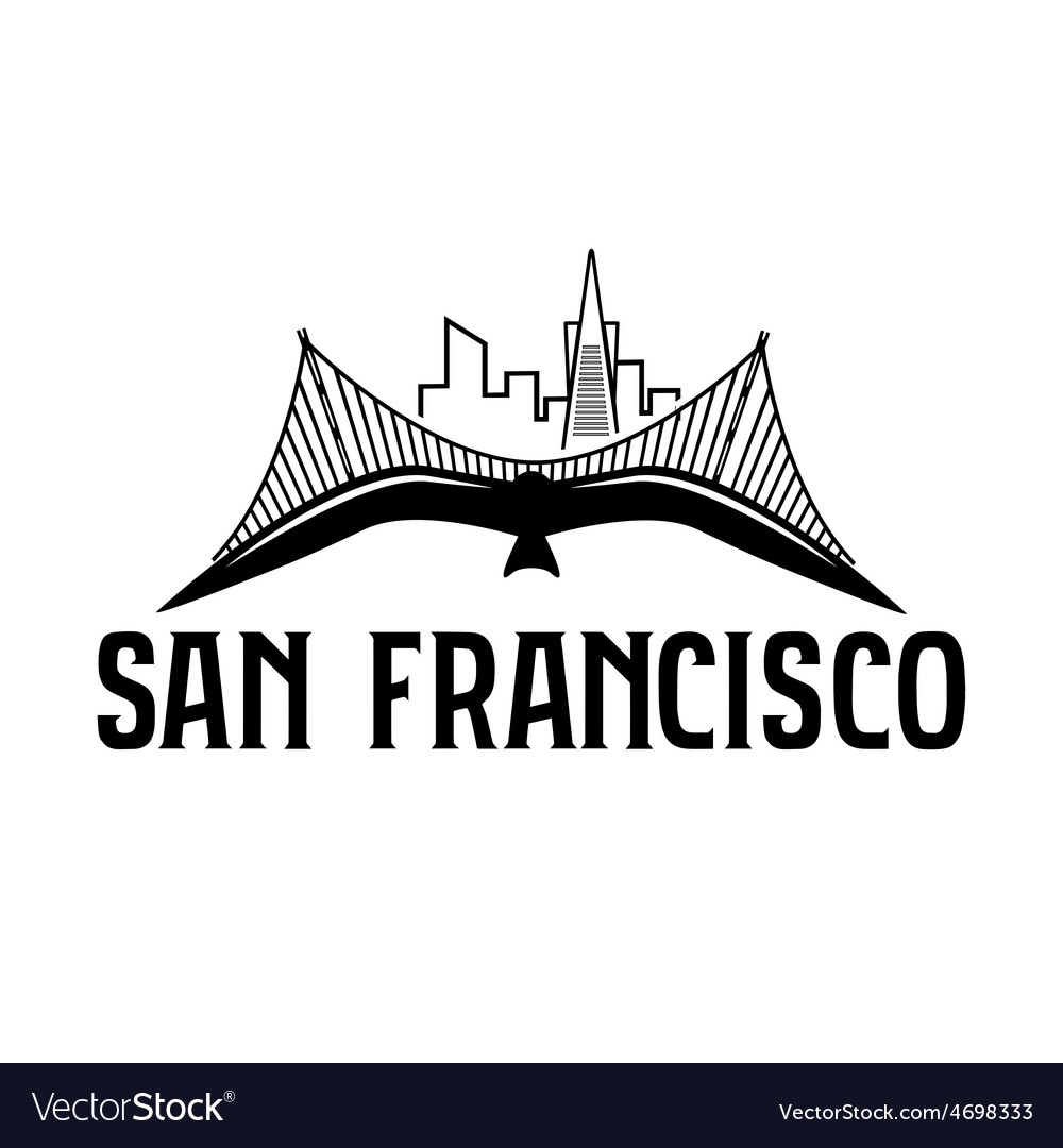 Skyline of san francisco and seagull design vector | Price: 1 Credit (USD $1)