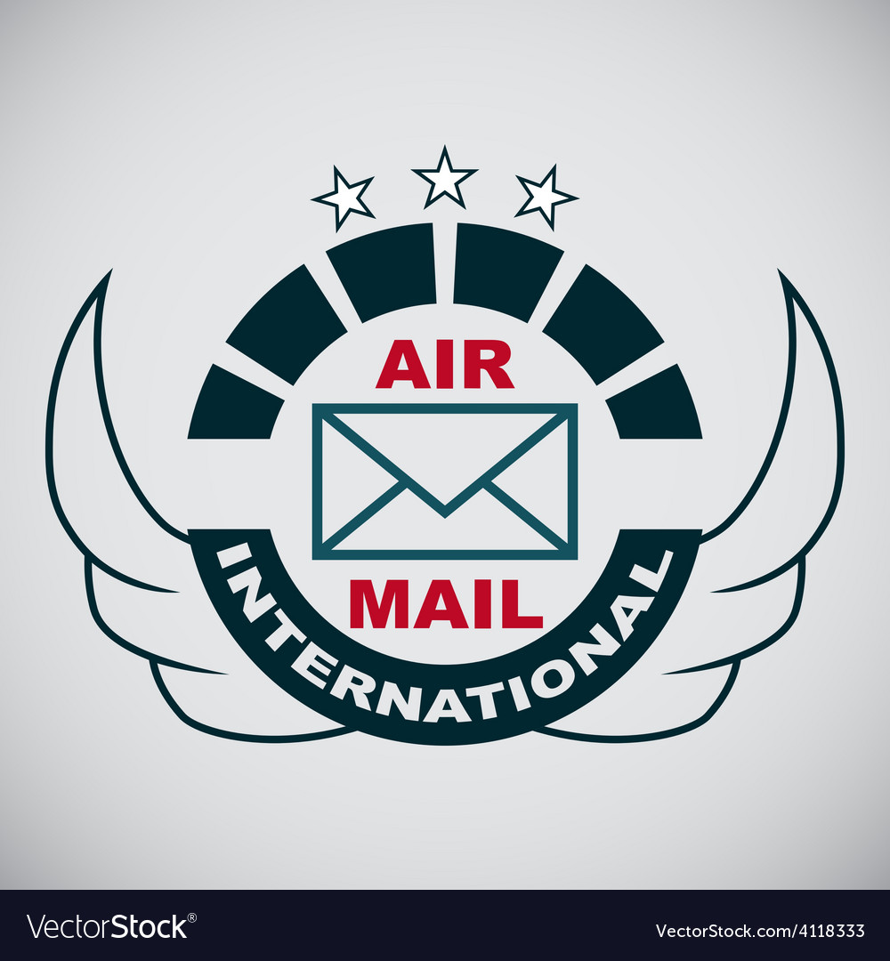 Stamp air mail vector | Price: 1 Credit (USD $1)