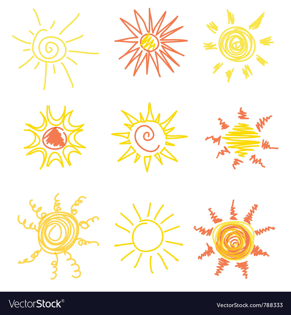 Sun symbols vector | Price: 1 Credit (USD $1)