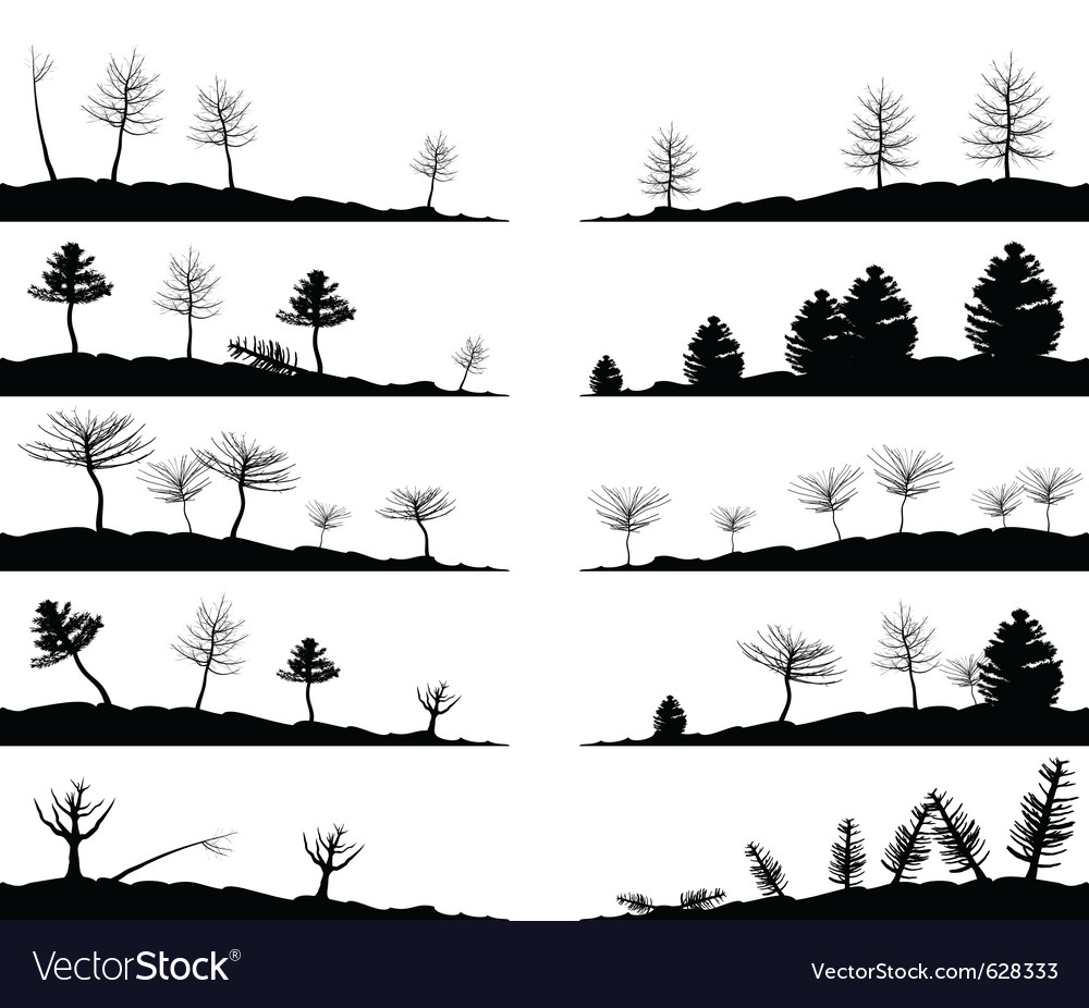 Tree landscapes vector | Price: 1 Credit (USD $1)