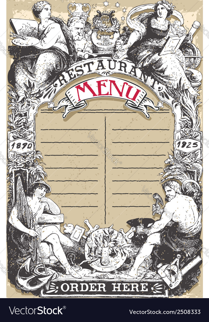 Vintage page for restaurant menu vector | Price: 1 Credit (USD $1)