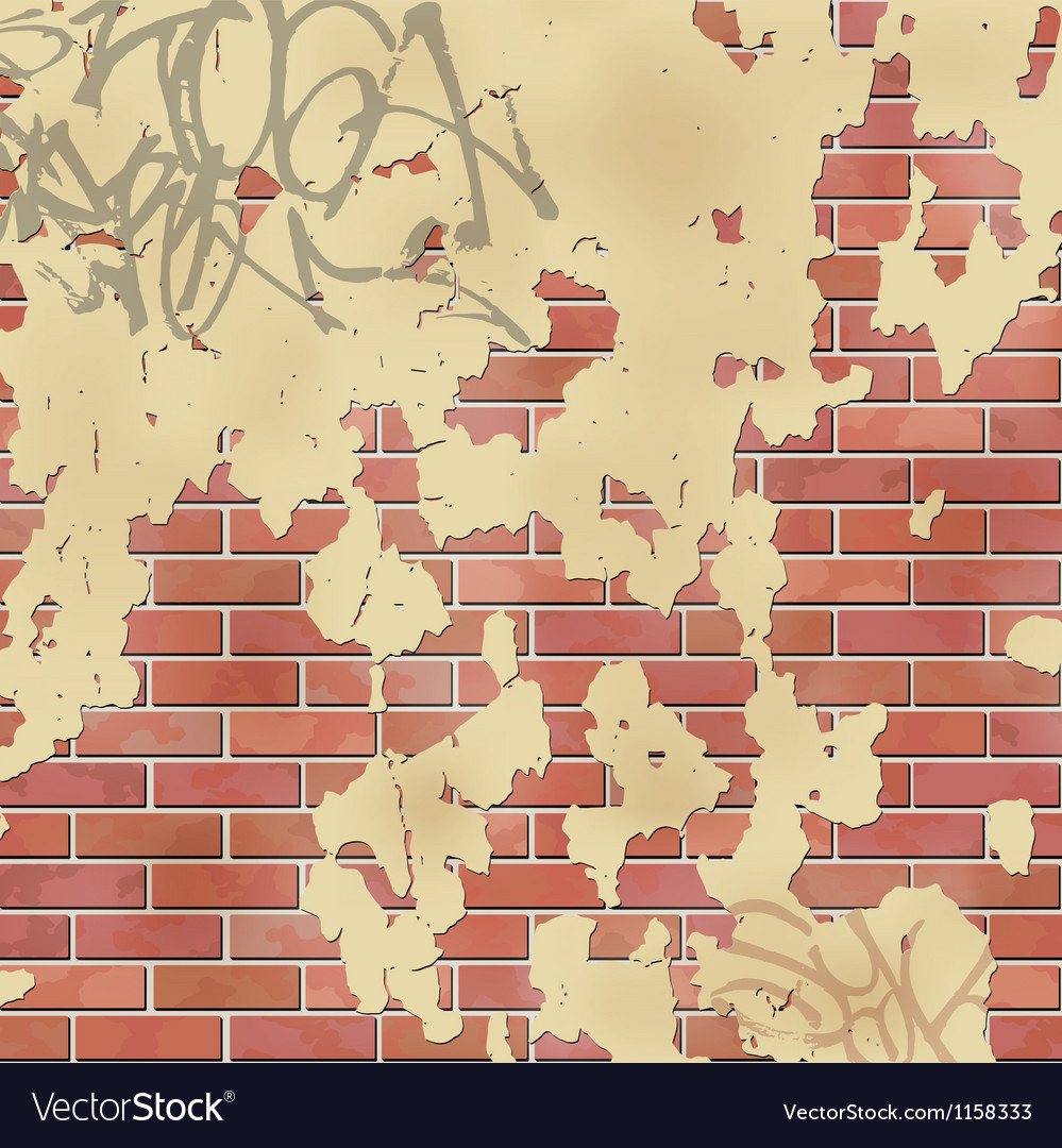 Wall with plaster vector | Price: 1 Credit (USD $1)