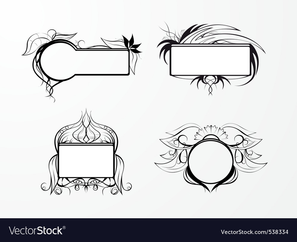 Blank black frame vector | Price: 1 Credit (USD $1)