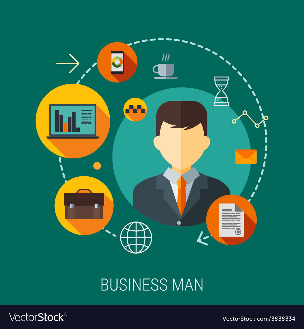 Business customers service and support concept vector | Price: 1 Credit (USD $1)