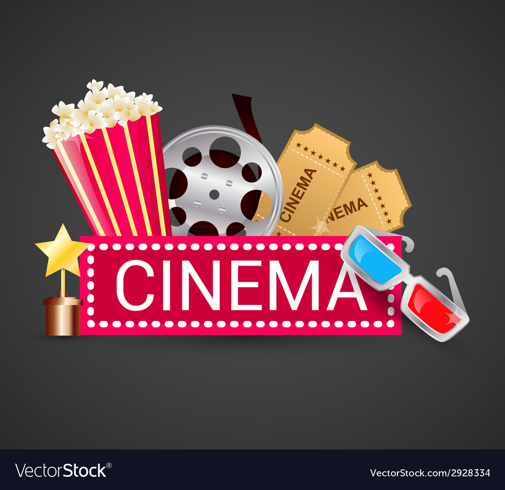 Cinema icons concept vector | Price: 1 Credit (USD $1)