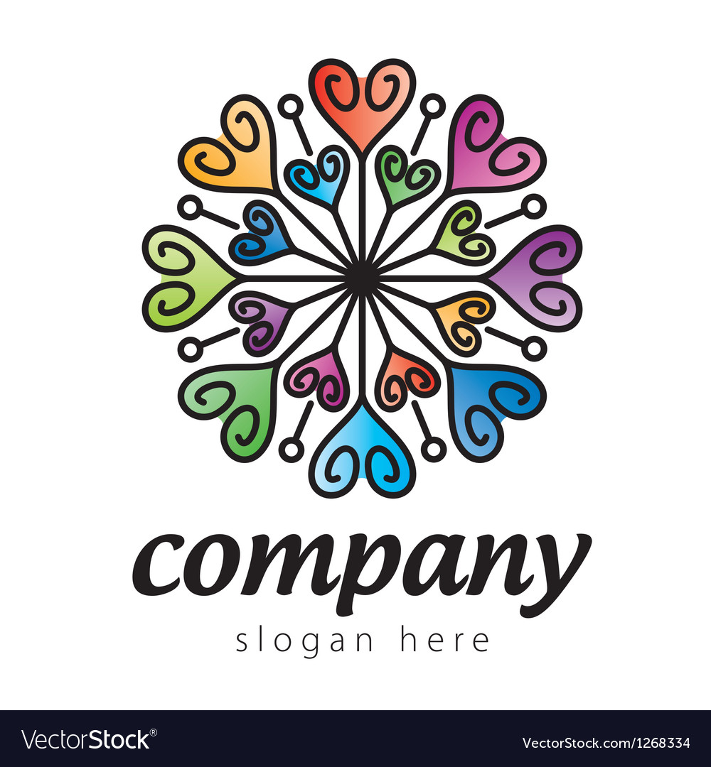 Colorful heart logo vector | Price: 1 Credit (USD $1)