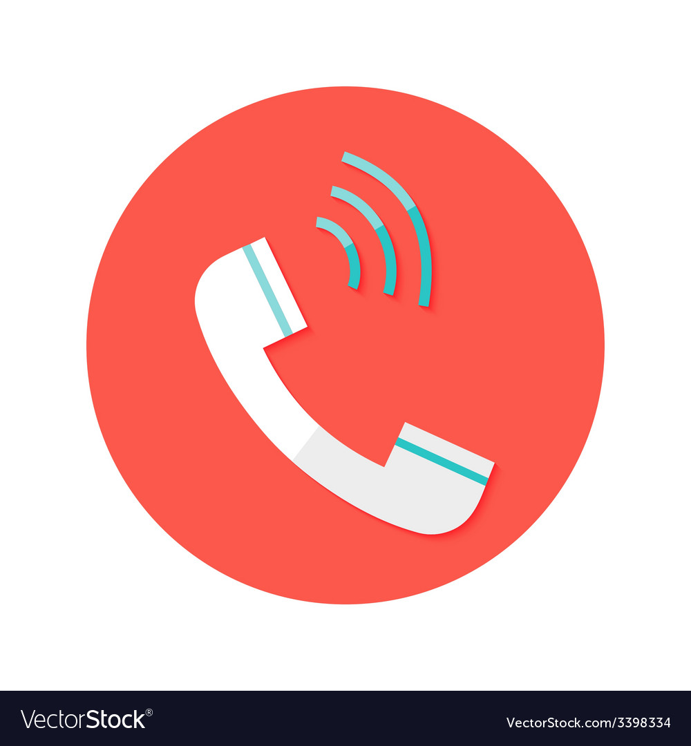 Headphone call circle flat icon vector | Price: 1 Credit (USD $1)