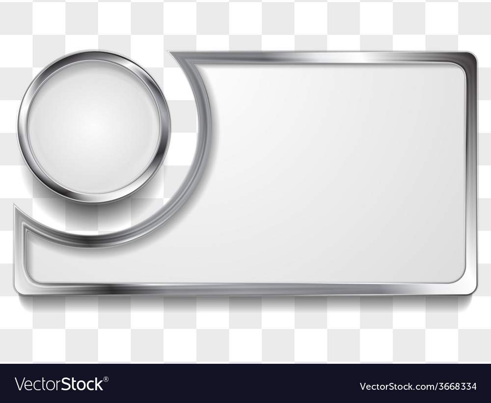 Metal silver frame background vector | Price: 1 Credit (USD $1)