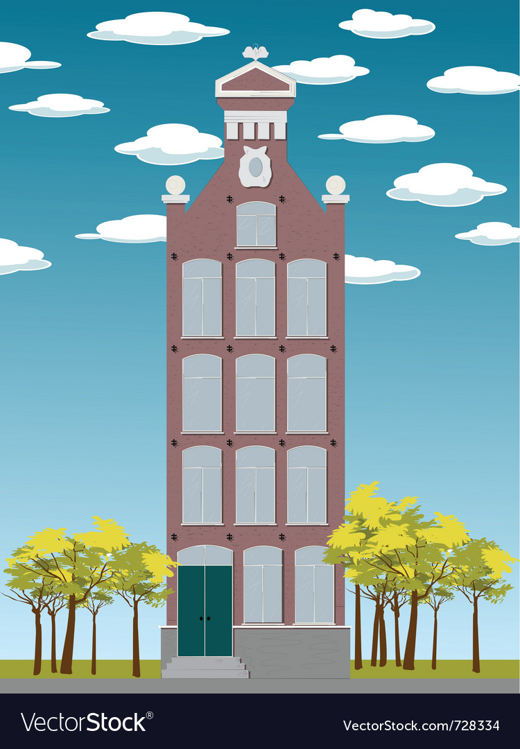 Old house amsterdam vector | Price: 3 Credit (USD $3)